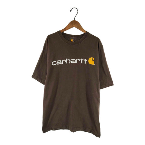 Carhartt brown logo T【used】