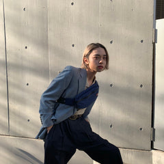 NICOLE navy slacks【used】