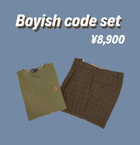 [2点set] Boyish  code set【used】