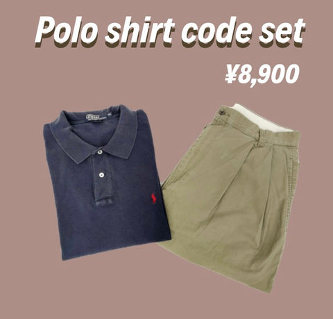 [2点set] Polo shirt  code set【used】