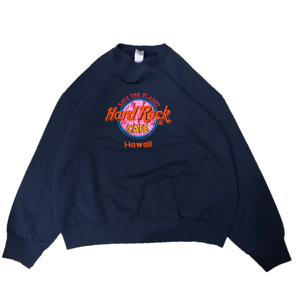 Hard Rock navy sweat【used】