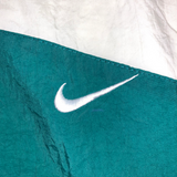NIKE white × green nylon jacket【used】