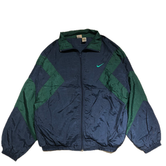 NIKE navy green nylon jacket【used】
