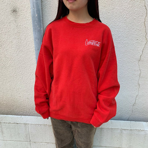 Cocacola red sweat【used】