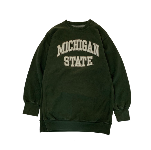MICHIGAN STATE Dark Green Sweat【used】