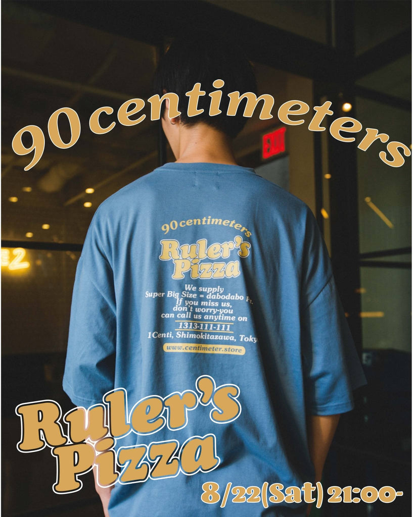 [8/22(Sat)21:00- ] 9090 Original Ruler's Pizza Tee(dull blue)【original】