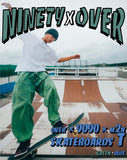 [POP-UP&Online 受注生産] over × 9090 × m2n skateboards T green-blue(white)【original】
