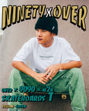 [POP-UP&Online 受注生産] over × 9090 × m2n skateboards T yellow-green(white)【original】