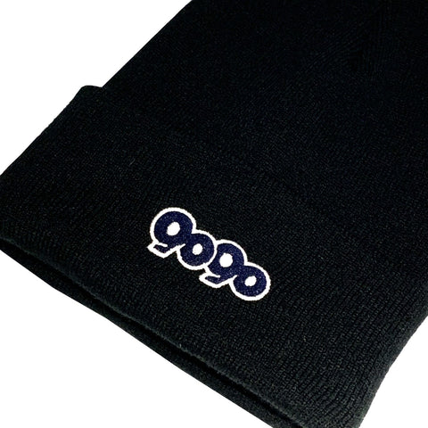 [10/3(sat)21:00~] 9090 logo knit cap(black)【original】