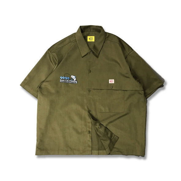 [3/16(火)21:00-]COWDEN × 9090 × FREAK'S STORE Fishing Shirts(オリーブ)【original】