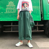 Oversize color wide pants【select】