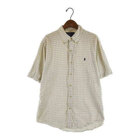 Ralph yellow check shirt【used】