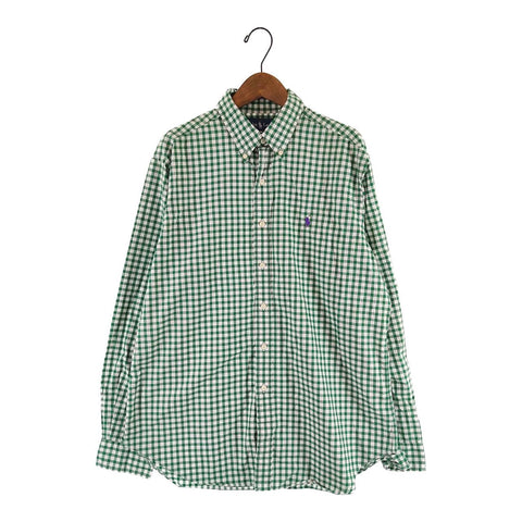 Ralph Lauren green check shirt【used】
