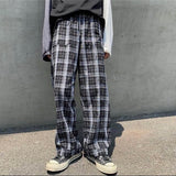 Gray check pants【select】