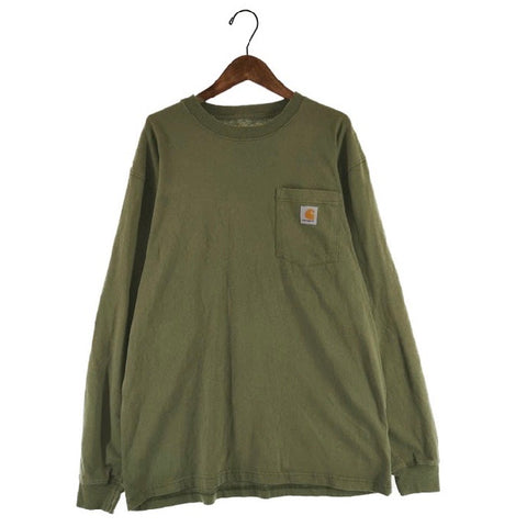 Carhartt khai long T【used】