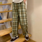 Green check pants【select】