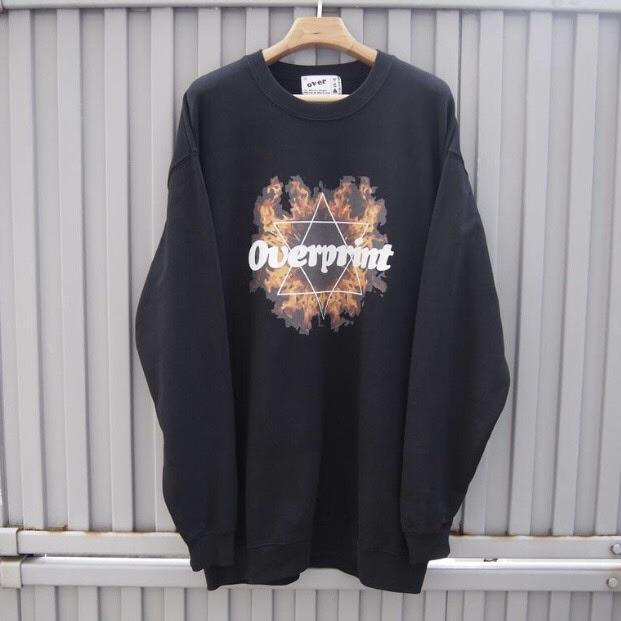 Inferno crewneck pullover(black)【original】