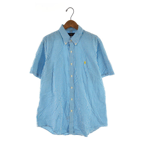 Ralph blue check shirt【used】