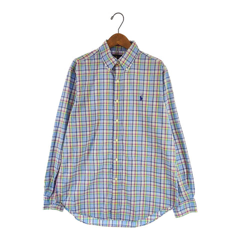 Ralph Lauren blue check shirt【used】