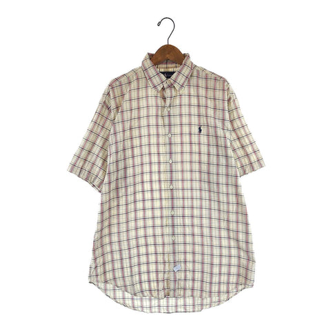 Ralph cream red check shirt【used】