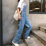 Loose denim overall【select】