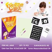 Load image into Gallery viewer, Educational Toy Drawing Pad 3D Magic 8 Light Effects Puzzle Board Sketchpad