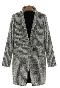 Houndstooth coat trench coat in the long section