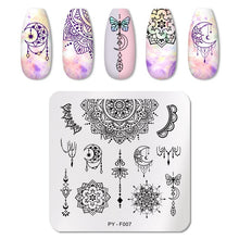 Load image into Gallery viewer, PICT YOU Nail Stamping Plates Line Pictures Nail Art Plate Stainless Steel Design Stamp Template for Printing Stencil Tools