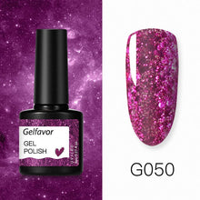 Load image into Gallery viewer, Gelfavor 8ml Gel Nail Polish Glitter For Manicure set nail art Semi platium UV LED Lamp Nail varnishes Base top coat Gel lacquer