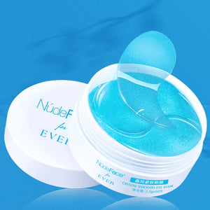 NudeFace collagen eye patches make up mask Crystal Smooth Eye Mask Patch Collagen Face Mask Gel Skin Care cream Collagen serum