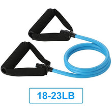 Charger l'image dans la galerie, 5 Levels Resistance Bands with Handles Yoga Pull Rope Elastic Fitness Exercise Tube Band for Home Workouts Strength Training