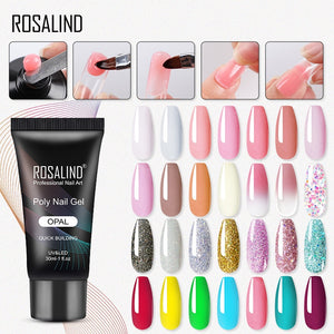 ROSALIND Poly Gel For Nails Extension Finger nail art Manicure Acryl gel Varnish hybrid 30ML Poly UV Gel Polish Extension
