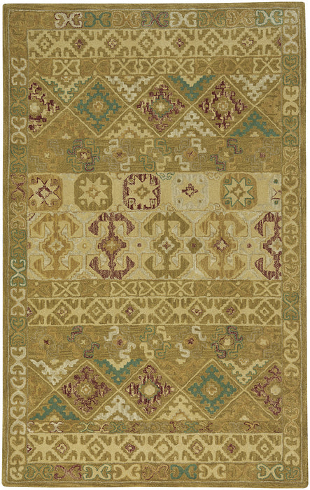 Izmir-Afghan Antique Gold Hand Tufted Rugs