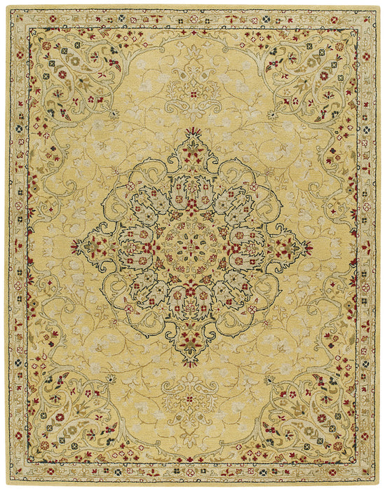 Izmir-Medallion Gold Hand Tufted Rugs