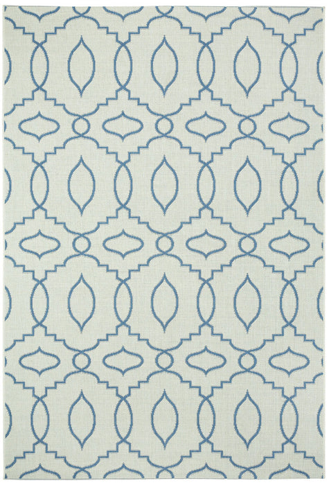 Finesse-Moor Capri Blue Machine Woven Rugs