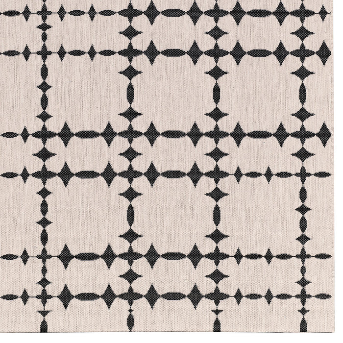 Finesse-Tower Court Noir Machine Woven Rugs