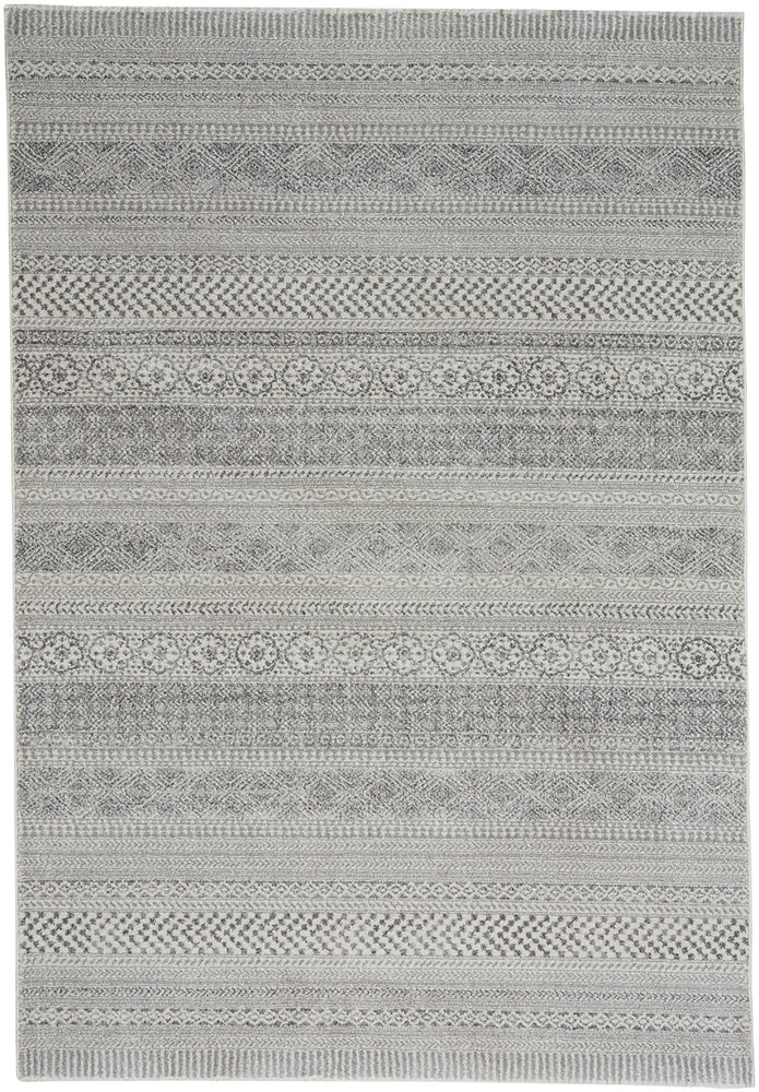 Quarry Silver Machine Woven Rugs