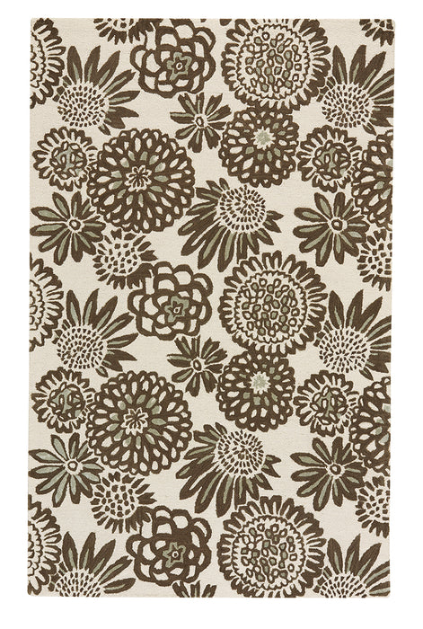 Flower Pop Chocolate Hand Tufted Rugs