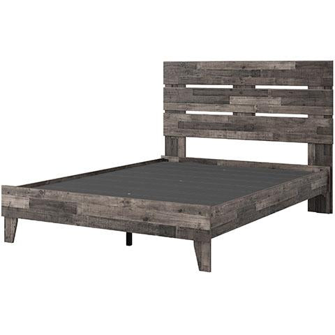 Queen Platform Bed, Multi Gray