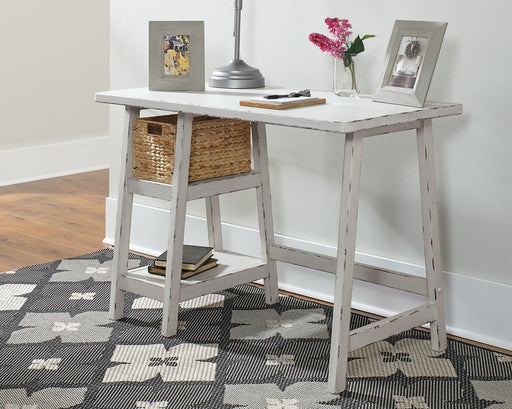 Home Office Small Desk Antique White