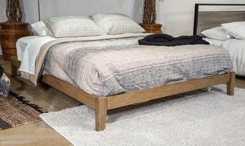 Queen Platform Bed, Light Brown