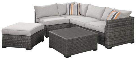 Loveseat SEC/OTTO/TBL Set, Gray