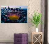 Coors Field and Denver Skyline
