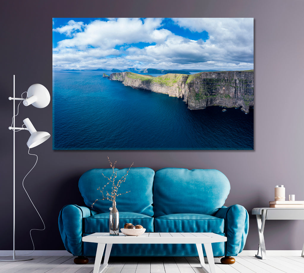 Sandoy Island Cliffs Faroe Islands