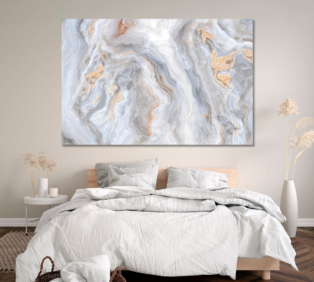 Abstract Grey Marble with Veins
