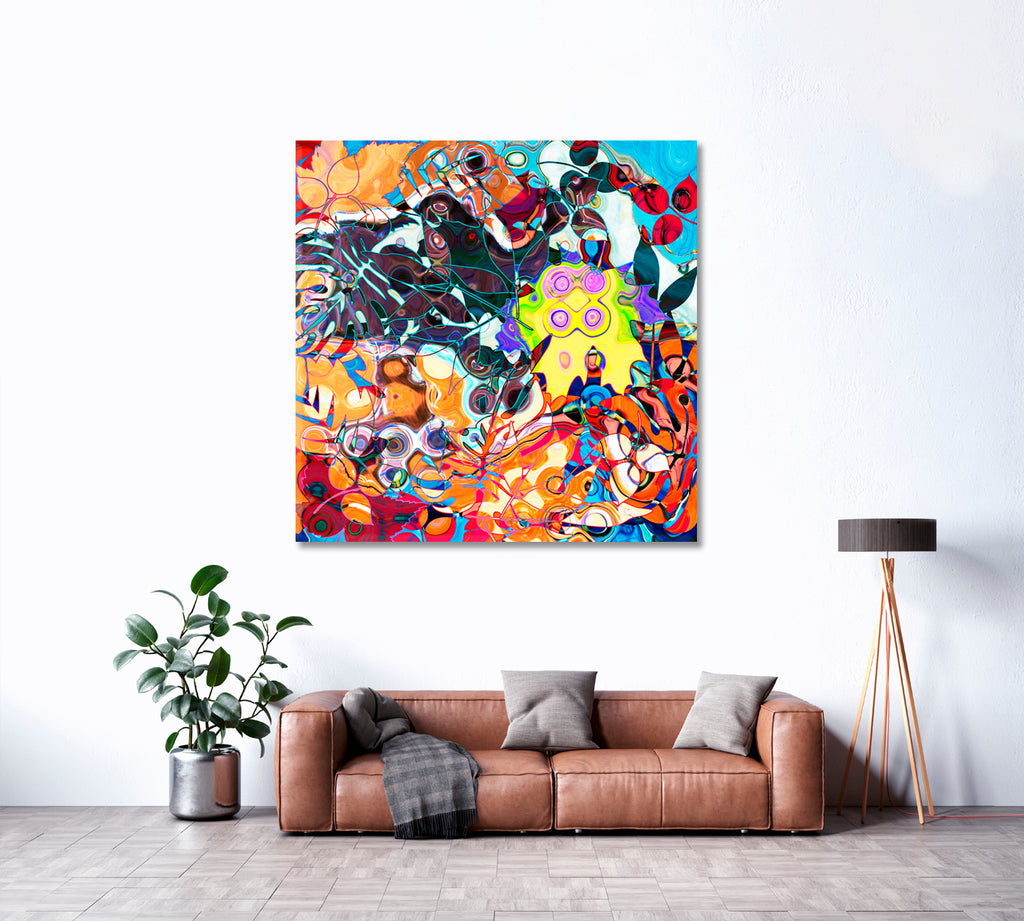 Abstract Colorful Geometric Art