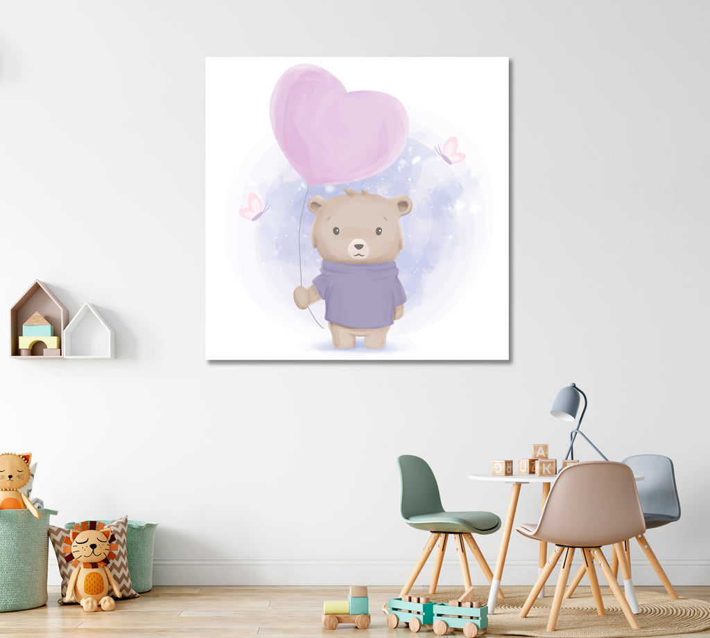 Bear Boy with Balloon