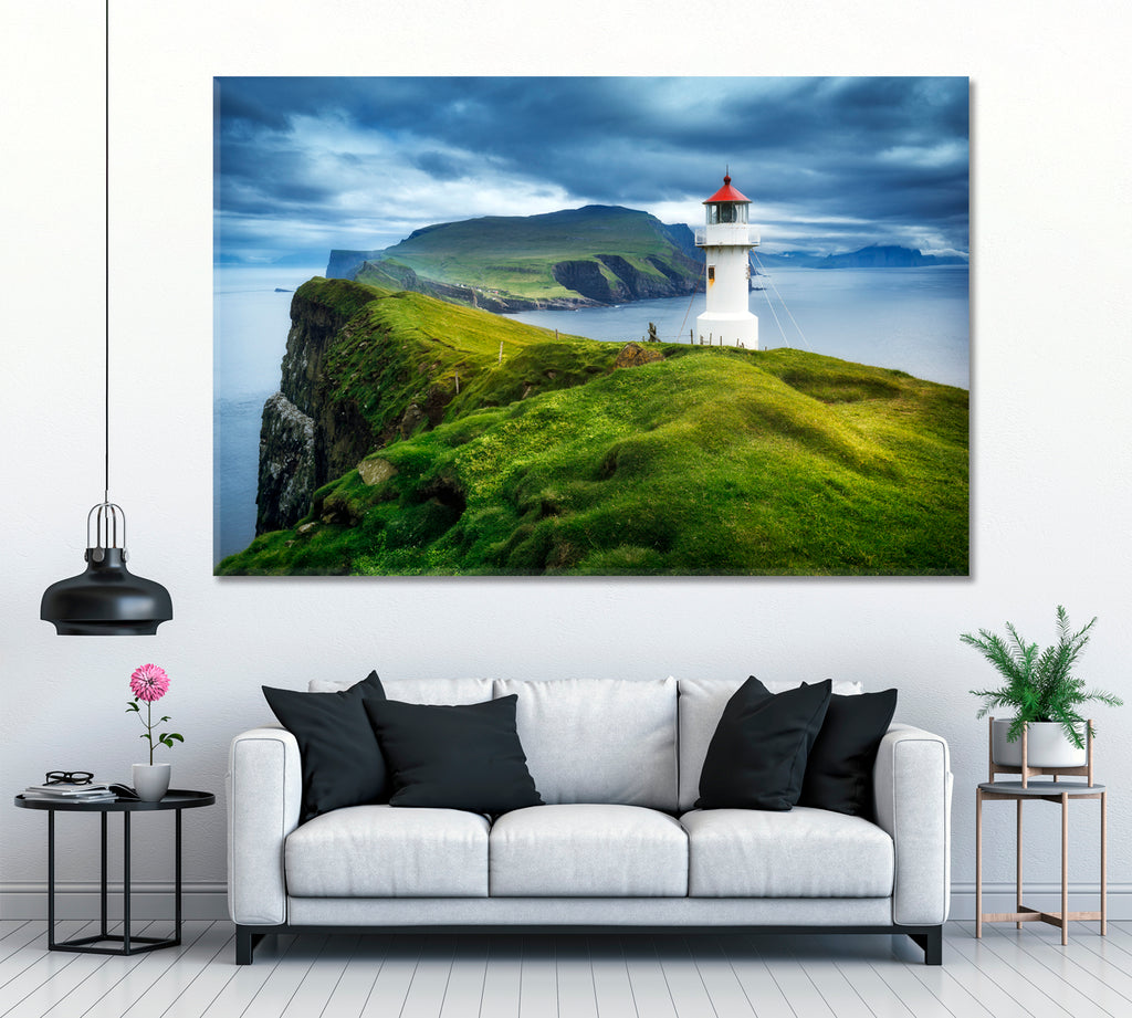 Mykines Lighthouse Faroe Islands Denmark
