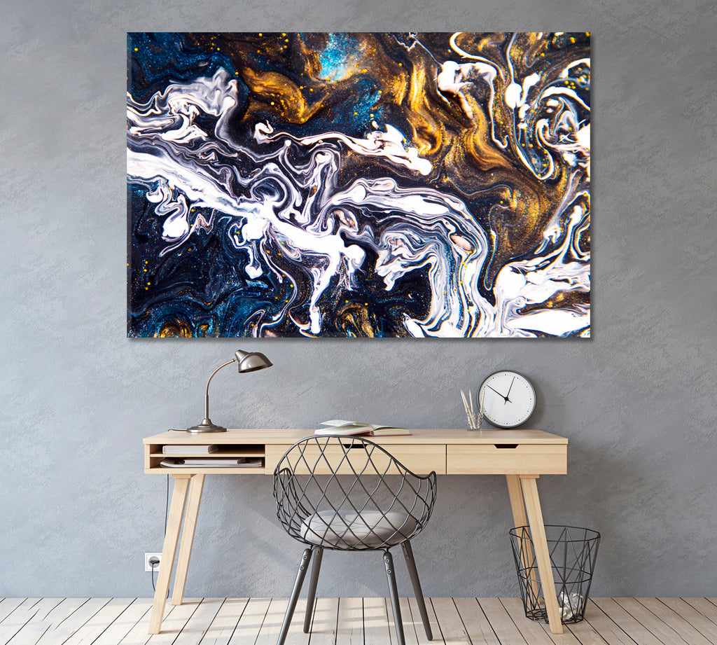 Abstract Acrylic Fluid Painting