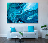 Blue Marble Abstract Painting